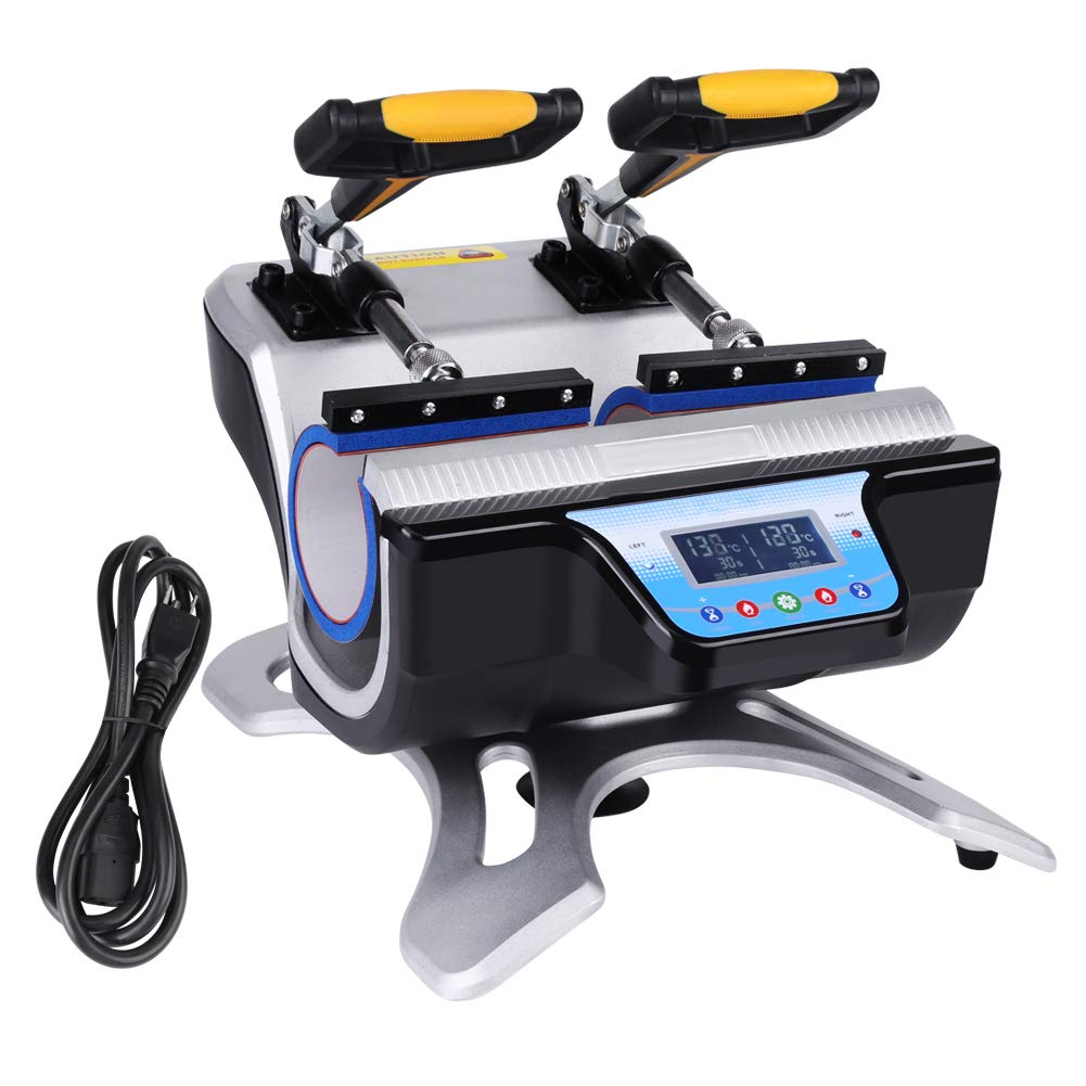 110V US Plug ST-210 Double Stations Mug Heat Press Sublimation Transfer Printing Machine Double Mug Heat Press