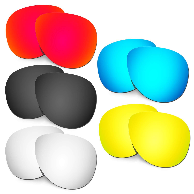 HKUCO 強化する交換用レンズ Oakley Elmont (Large) 赤/ブルー/ブラック/24 Kゴールド/チタン サングラス   B07RTLF913