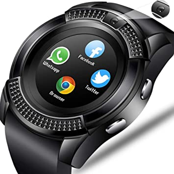 Men Women Smart Watch Wristwatch Support with Camera Bluetooth SIM ...