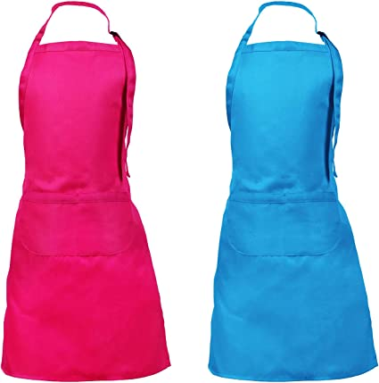 Children/'s Fabric Apron Kids Apron With Pockets Painting Crafts Cooking