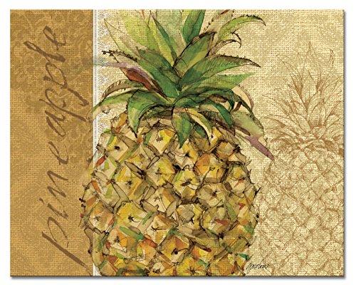 CounterArt Pineapple Glass Cutting Board