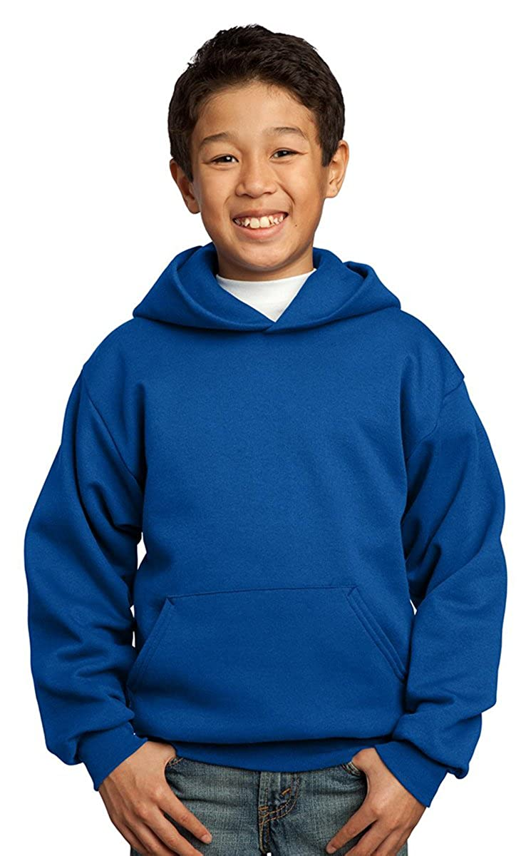 L Red Port /& Company Youth Pullover Hooded Fleece