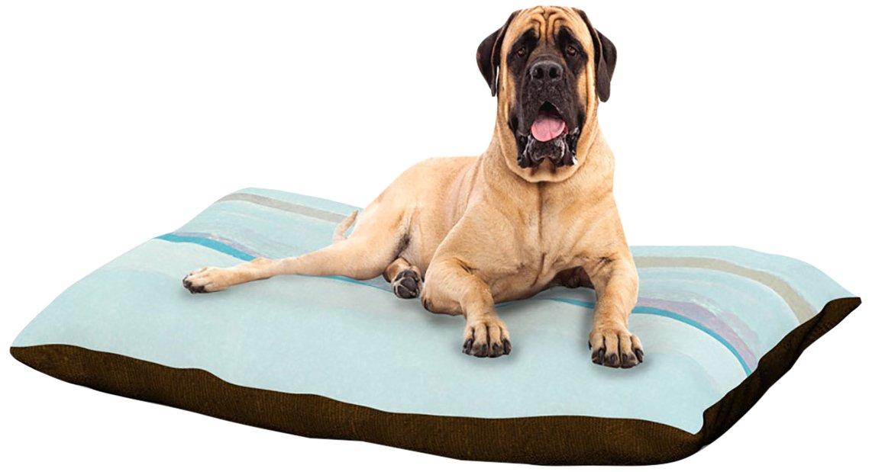 X-Large 40\ Kess InHouse CarolLynn Tice Cost  Dog Bed, 50 by 60-Inch, bluee Aqua