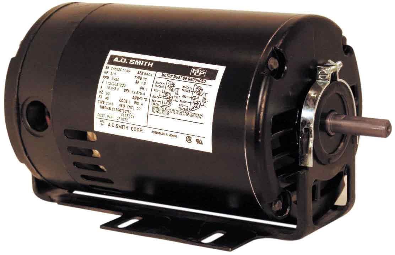 Century BF1052V1 Cap Start Resilient, 48Z Frame, 1/2-HP, 3450-RPM, 115/208-230-Volt, 9.4-Amp, Ball Bearing Motor by Century B0091BBVKM