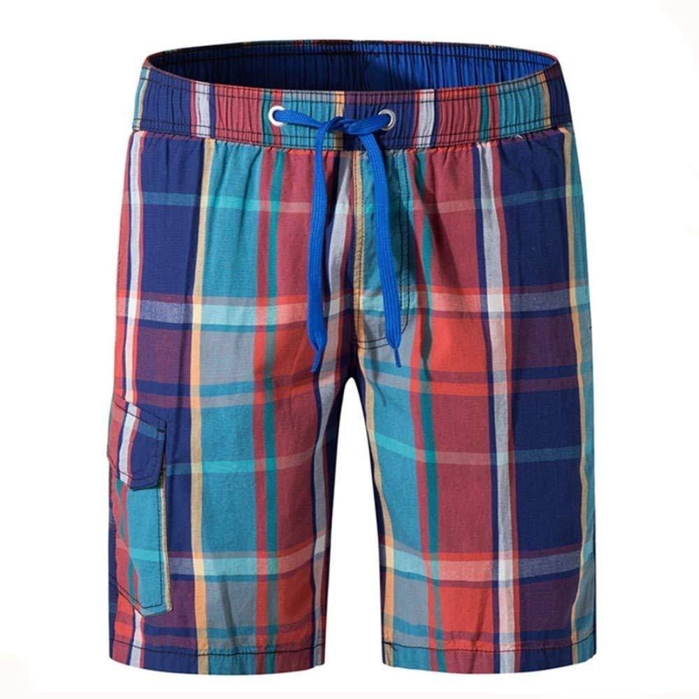 Men\'s Swim Trunks Board Shorts Cotton Print Swim Shorts Beach Shorts Casual Loose Home Leisure Pants