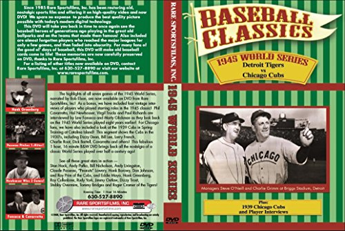- 1945 WORLD SERIES (Detroit Tigers vs Chicago Cubs) plus Player Interviews and '39 Cubs on DVD!