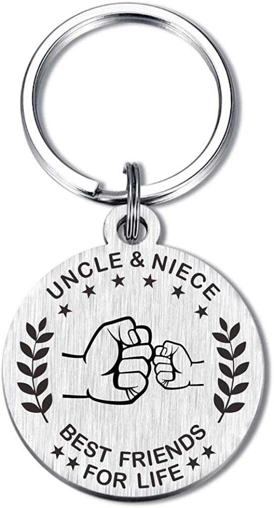 To My Uncle Aunt and Nephew Niece Keychain Best Friend for Life Key Chains Gifts for Birthday Christmas Presents
