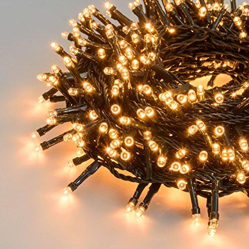 Dauerlicht 30V Trafo 750 Mini LEDs kaltwei/ß Transparentes Kabel Cluster-Lichterkette 7,5 m