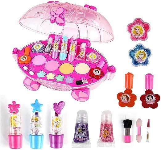 ALOOVOO Makeover Kit-Princesa Maquillaje Set-Juguetes para niñas, Juguetes de niña, Juguetes Infantiles, cumpleaños: Amazon.es: Hogar