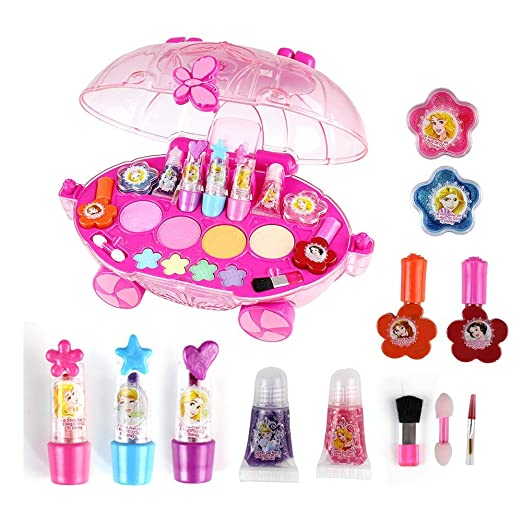ALOOVOO Makeover Kit-Princesa Maquillaje Set-Juguetes para ...