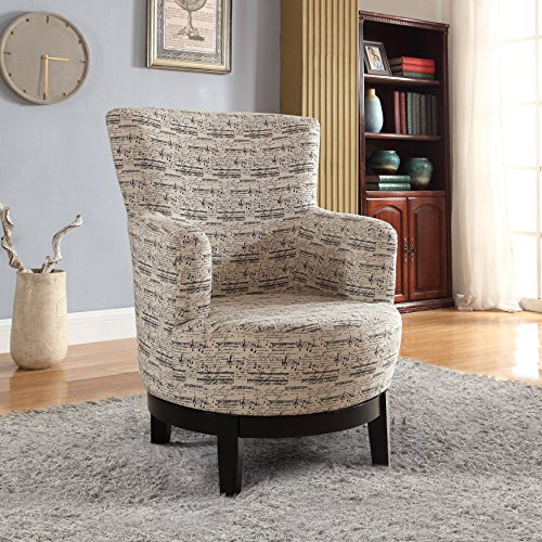- NHI Express 90024-27 Gianna Swivel Accent Chair, Regular