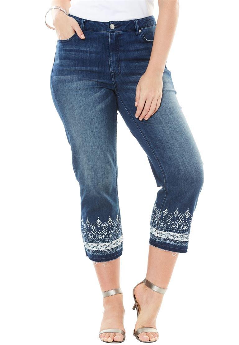 Women's Plus Size Cropped Bootcut Jean