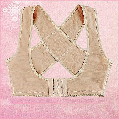Lady Women Chest Breast Support Belt Band Posture Corrector Brace(Size: L)