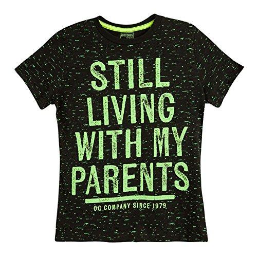 OFFCORSS Big Boy Teen Kid Multi Colored Printed Plain Solid Color Short Sleeve T- Shirt Casual Tee Neon Prime Pocket Camisetas de Niño Grande Gray - Outfits Color Neon