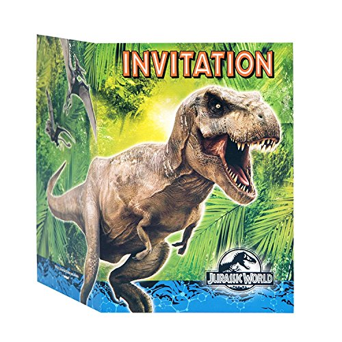 2 PK Jurassic World Party Invitations, 16ct by uni (Image #1)