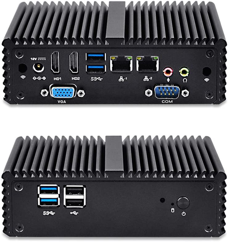 Qotom-Q150P-S08 Barebone Mini PC Intel Celeron N3160 Quad Core with AES-NI Support Win 10 Ubuntu Linux Computer