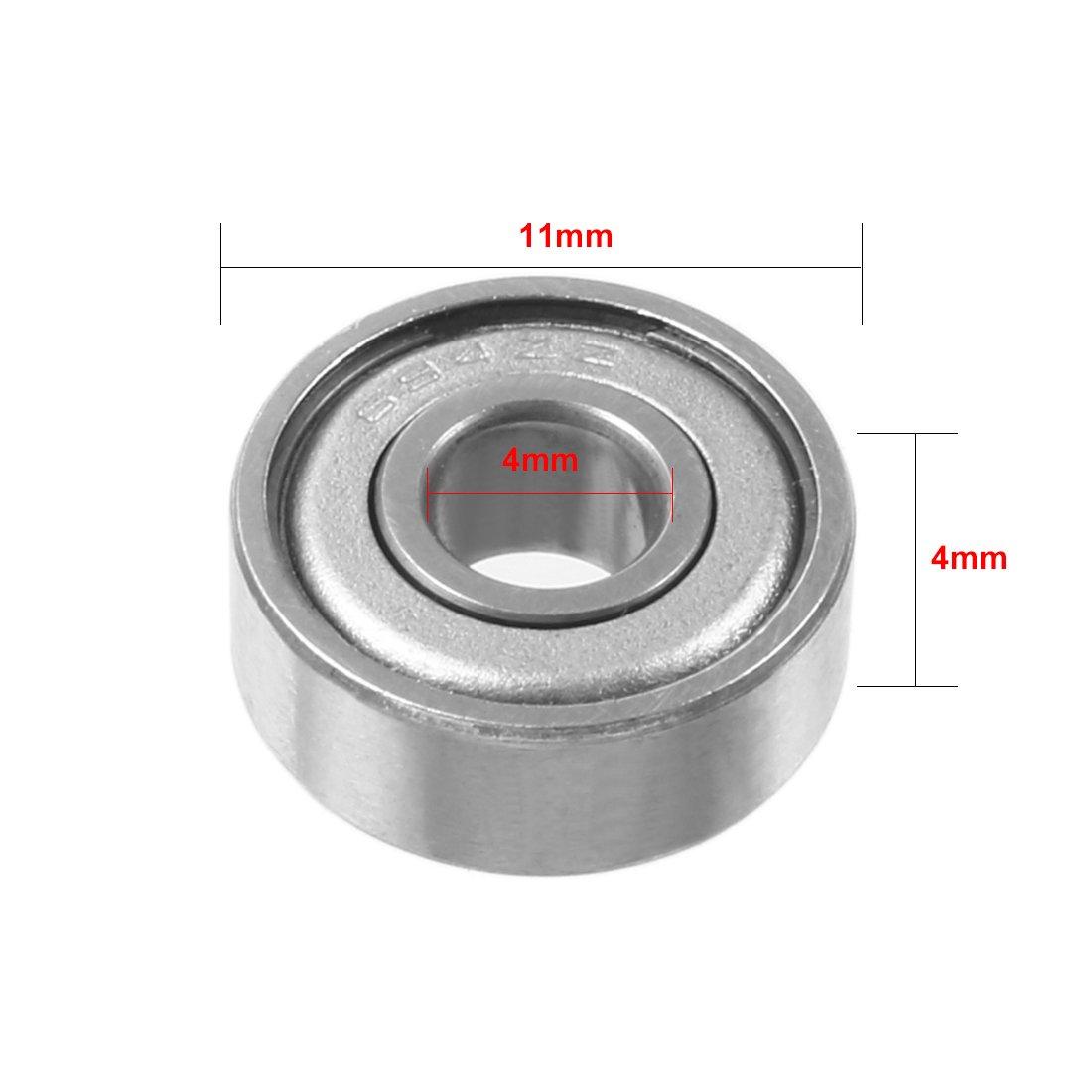 uxcell 20pcs 694ZZ 4mmx11mmx4mm Double Shielded Miniature Deep Groove Ball Bearing