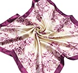 DGFA INC New Women's Silk Feel Square Hair Neck Scarf Mother's Day Gift 19.5
