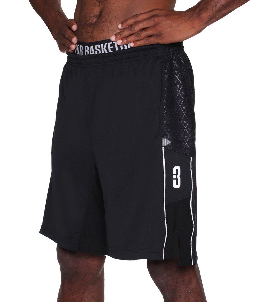 ポイント3 Youth Dryv Baller 3.0 Dry Handゾーンバスケットボールショーツ B01MUF7P4P ブラック Large