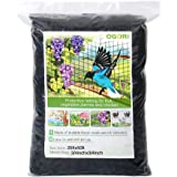 "OGORI 25 X 50 ft Bird Netting Poultry Netting Protect Plants and Fruit Trees Garden Net 3/4"" Square Mesh Size (25 X 50…"