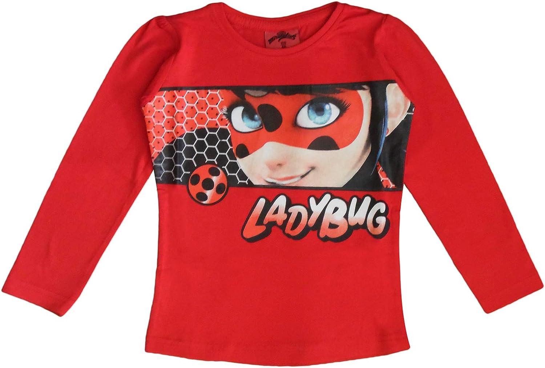 rouge-taille Miracoulas Ladybug-t-shirt-shirt 98-128