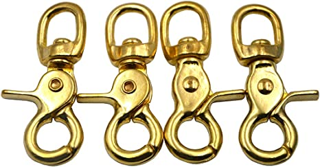 4PCS Swivel Trigger Clips Hook Lobster Claw Clasps Metal Bag Leathercrafts
