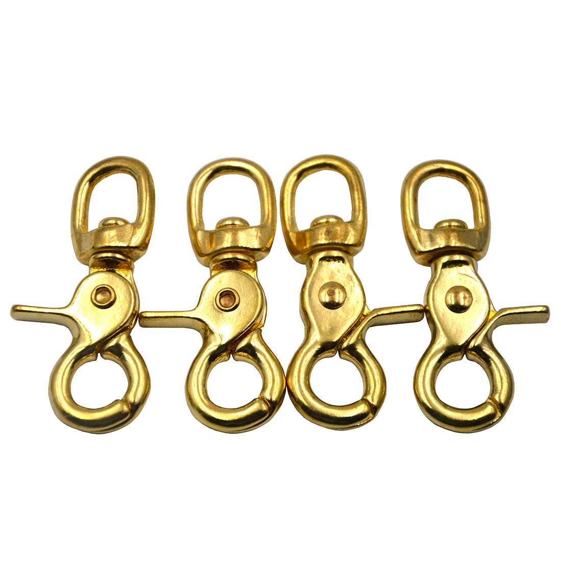 Antique Brass CRAFTMEmore Metal Swivel Trigger Lobster Clasp Purse Landyard Snap Hooks with 5//8 Base O Ring 1-7//8 L Pack of 4 Pick Color
