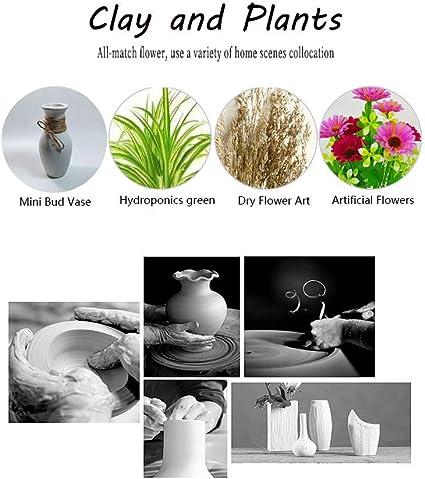 Vintage cer/ámica Disposici/ón decoraci/ón del florero del hogar de la Flor decoraci/ón del florero tama/ño : S