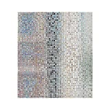 Decorative Window Film Mosaic Window Covering Heat Control Privacy Film Obscure Glass Cling Frosted Etching Film Window Tint for Home Kitchen Patio Door 35.4in. by 78.7in. (90 x 200CM)