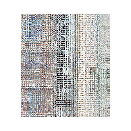 Mosaic Window Film Frosted Privacy Glass Covering Door Window Tint Peel and Stick Stickers Static Heat Control Anti UV Slide Tinting Film for Kitchen Closet Glass Office 17.5in.By 78.7in(44.5 x 200cm)