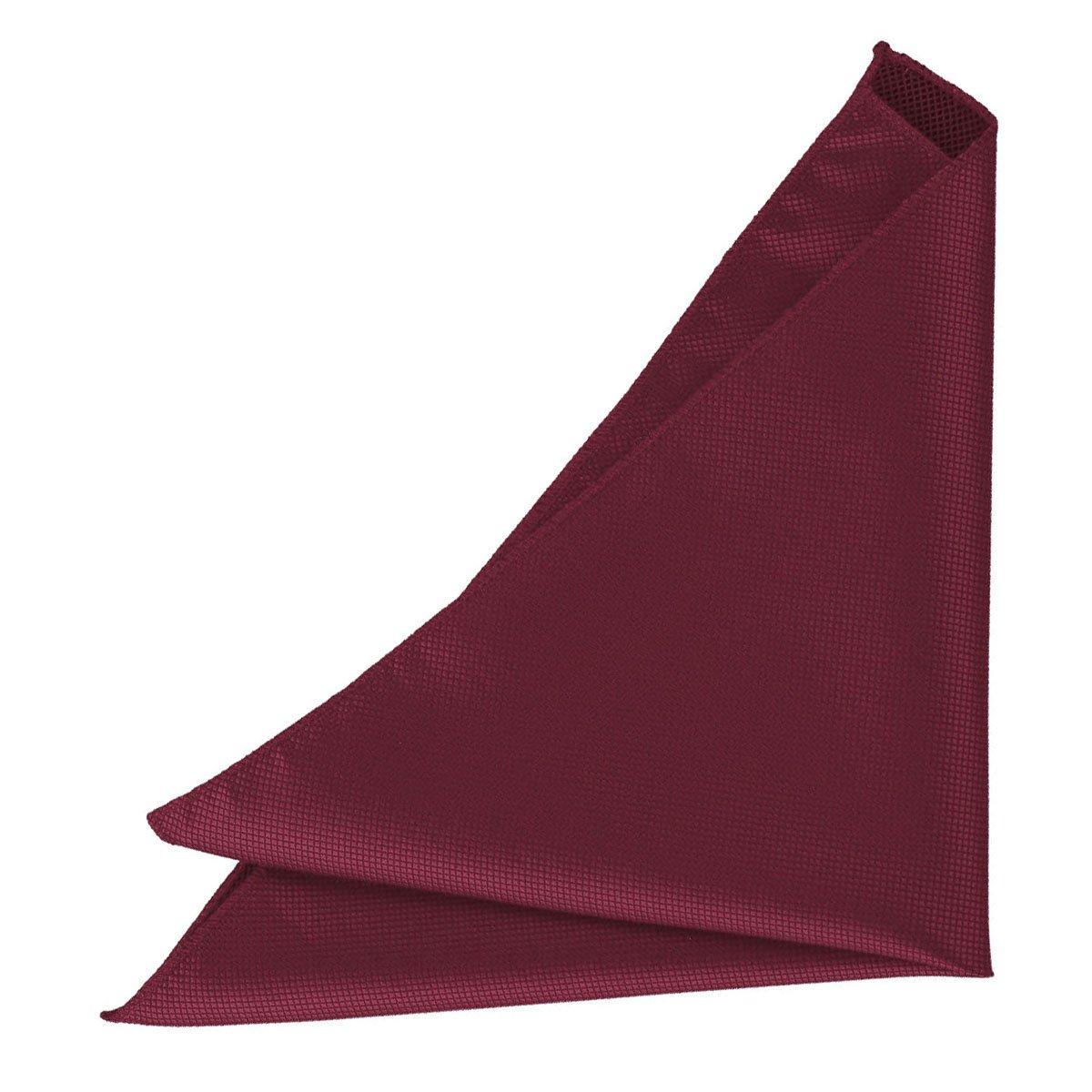 DQT Satin Plain Solid Silver Formal Handkerchief Hanky Pocket Square
