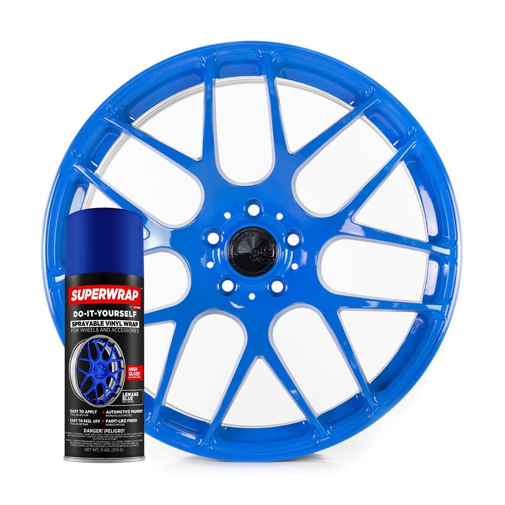 Superwrap Sprayable Vinyl Wrap for Wheels & Accessories - 11oz Spray Can/Paint - Gloss Series - Lemans Blue