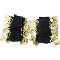 MagiDeal 1 Pair Belly Dance Arm Cuff Wrist Bracelets w/ 18 Golden Coins