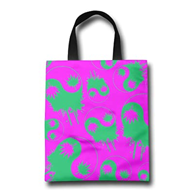 Weed Yin Yang Fashion Tote Bags Extra Large Eco Friendly Tote Bags Shopping Bags With Straps