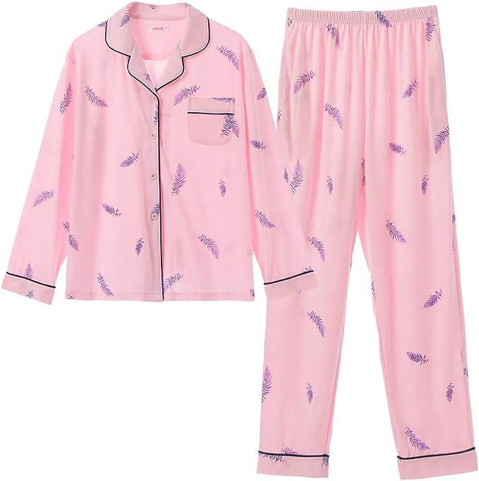 GOSO Pijama para niñas de 8 a 14 años, Pijama con Botones para Adolescentes, niñas, Pijamas de Manga Larga y Pantalones Largos: Amazon.es: Ropa y accesorios
