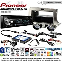Volunteer Audio Pioneer DEH-S6000BS Double Din Radio Install Kit with Bluetooth, Sirius XM, CD Player Fits 2010-2015 Chevrolet Camaro