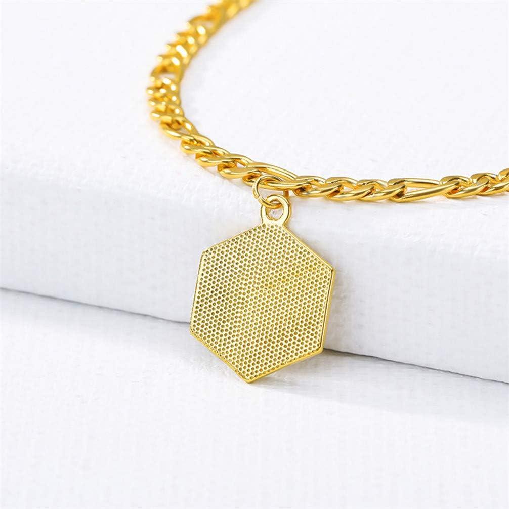 LoveAloe Bracelet de Cheville Initiale pour Femmes Bracelet de Cheville avec Lettre Alphabet Bijoux de Pied