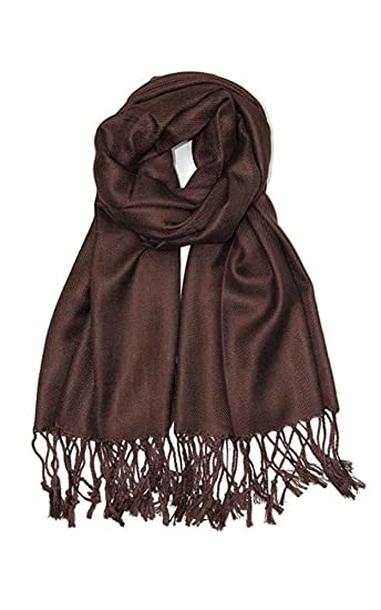 e64ca710d AN Womens Pashmina Shawl Scarf with Tassels Silk Soft Fashion Accessory at  Amazon Women's Clothing store: