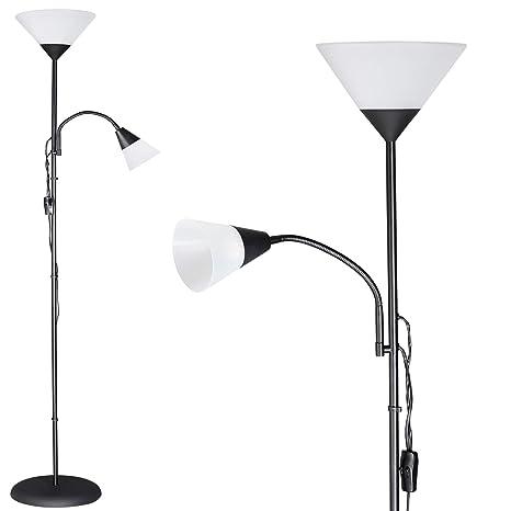 E27 Stehleuchte Street Single  schwarze Farbe//Metall Glas Aussenlampe