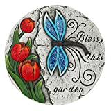 Garden Decor Butterfly and Roses Bless This Garden Stepping Stone For Sale