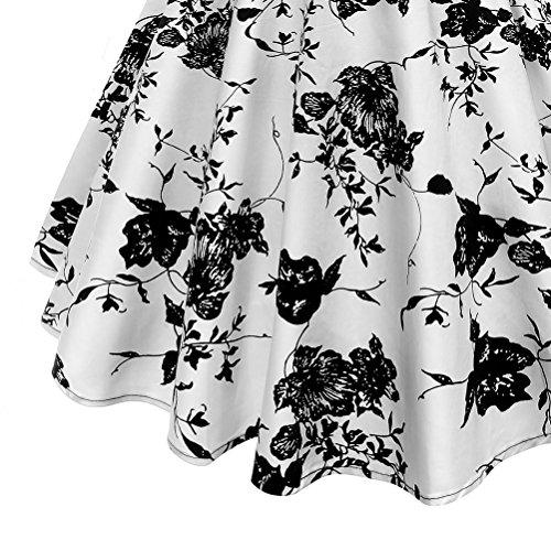 Abiti Anni V Fuweiencore Vestito Pieghe Stile Shown4 Pois Donna Con Elegante Vintage Abito Scollo Cinquanta Da As A Cocktail 6rxwr7d