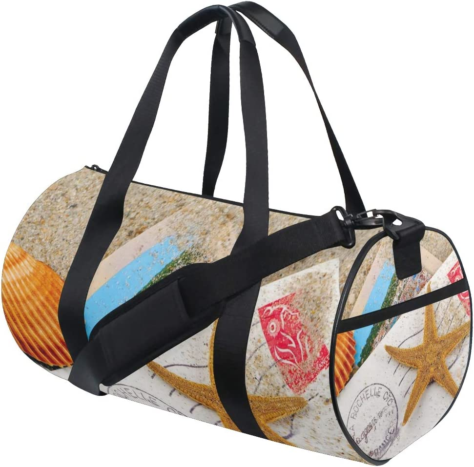OuLian Duffel Bag Sea Life Seahorse Fish Coral Turtle Squid Women Garment Gym Tote Bag Best Sports Bag for Boys