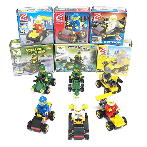 Vehicle Building Brick Sets (6 Pack)