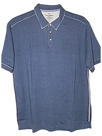 b98f679d Tommy Bahama Fray Day Golf Polo Shirt (Color: Chambray Blue (Darker Than Pic