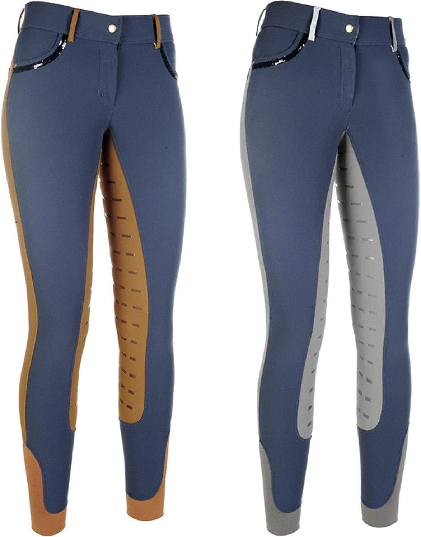 oulon HKM Pantalon d/équitation Garniture en silicone aux genoux