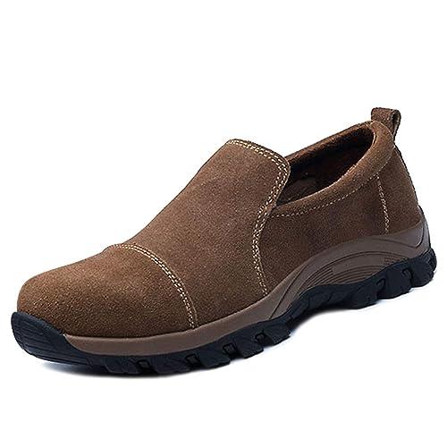 chnhira Zapato de securité Hombre Mujer Zapato de Trabajo luz Smash Transpirable protección, Verde (Caqui), 39 EU: Amazon.es: Zapatos y complementos