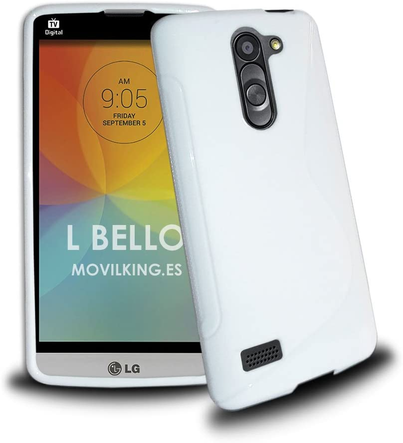 Funda de Gel Tpu S Line para LG L Bello color BLANCO: Amazon.es ...