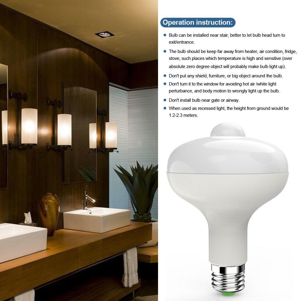 Sentexin PIR Infrared Sensor Light LED Bulb Motion Detection ...