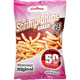 Calbee Shrimp Chips Original, 4 oz (Pack of 3)