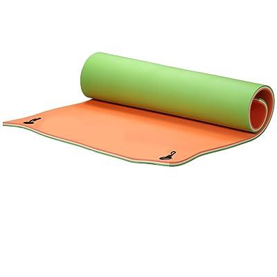 Klismos 9x6 FT Floating Mat Anti-Oxidation Water Pad 3-Layer XPE Foam for Pool,Lake,Beach,Ocean(Orange,Green): Toys & Games